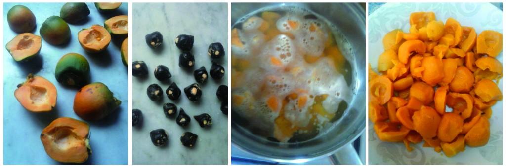 1. Quitamos las semillas 2. Guisamos en agua con sal 3. Listo para comer!